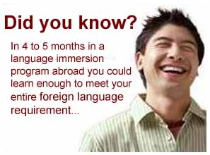 Language Study Abroad to Meet Your Foreign Language Requirement