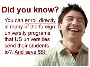 Affordable Study Abroad - Direct Enrollment